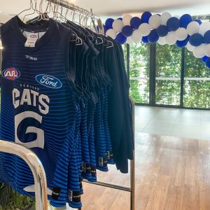 Mantra at Sharks hosts the Geelong Cats
