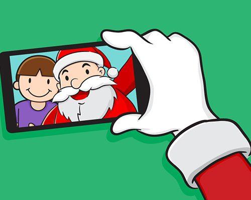 Sharks Santa Selfie