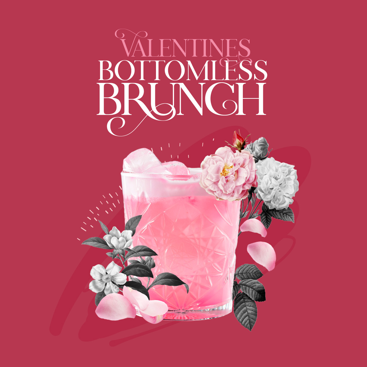 Aviary Rooftop Bar Valentine's Day Bottomless Brunch