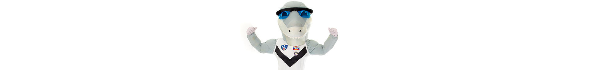 Southport Sharks mascot Mr Sharky