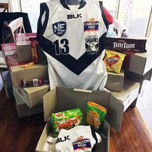 Southport Sharks Care Boxes for Defence Force