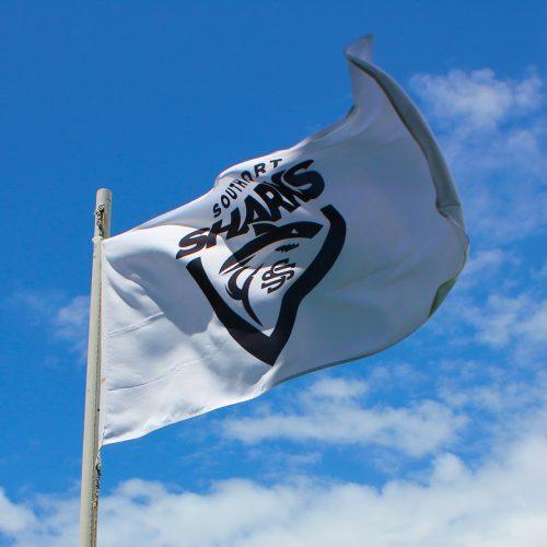 Southport Sharks football flag
