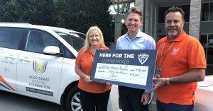 Charity Partners Gold Coast Hospital Foundation cheque handover