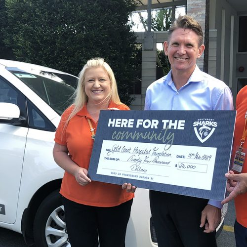 Charity Partners Gold Coast Hospital Foundation cheque handover