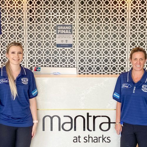 Mantra at Sharks - Staff in Geelong polos