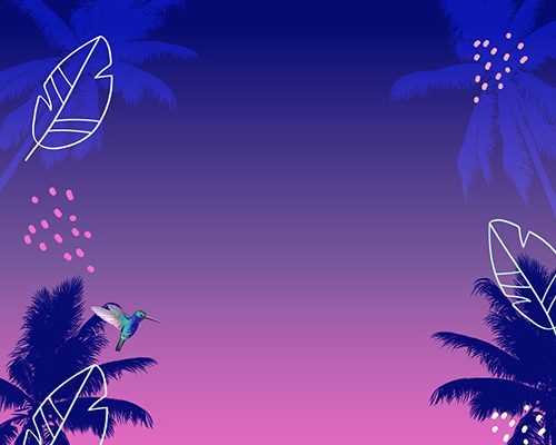 Aviary Rooftop Bar Neon Palm