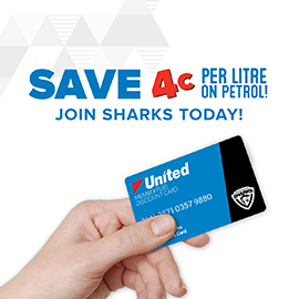 Southport Sharks Member Benefits with United