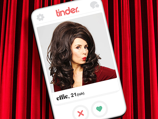Effie in Love Me Tinder at Sharks